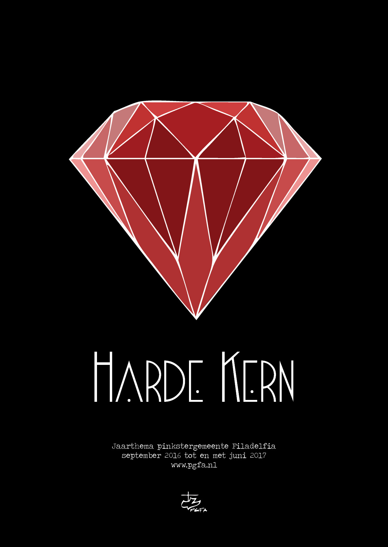 Flyer jaarthema Harde Kern