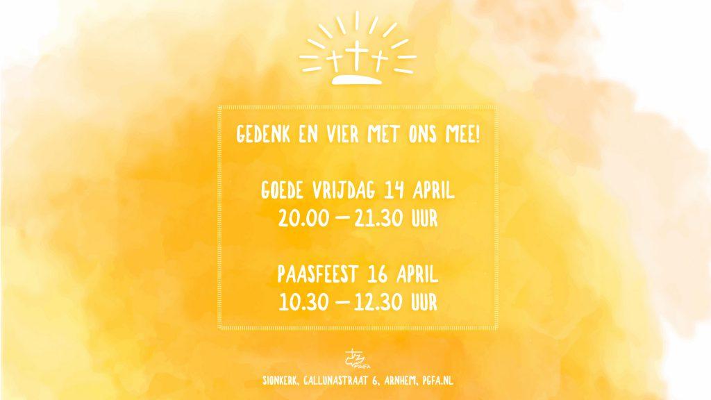 Uitnodiging Goede Vrijdag en paasfeest